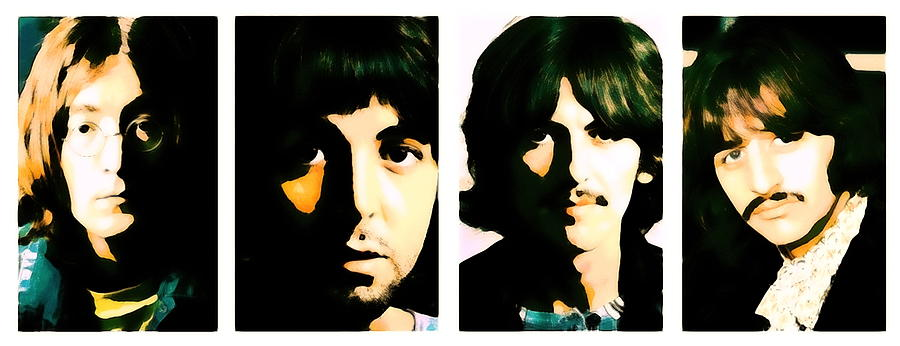 Beatles Painting - Beatles portrait painting Lennon, McCartney, Harrison and Starr by Artista Fratta