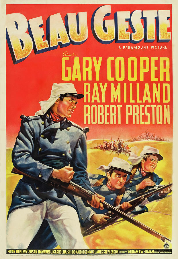 beau Geste, With Gary Cooper, 1939 Mixed Media
