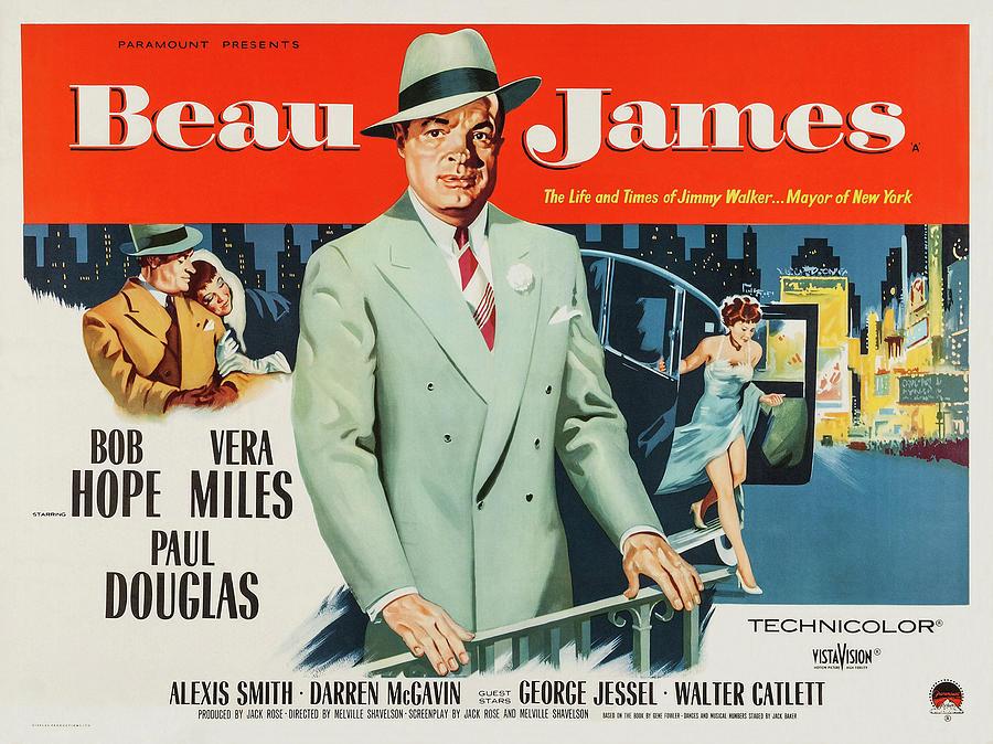 beau James, With Bob Hope And Vera Miles, 1957 Mixed Media