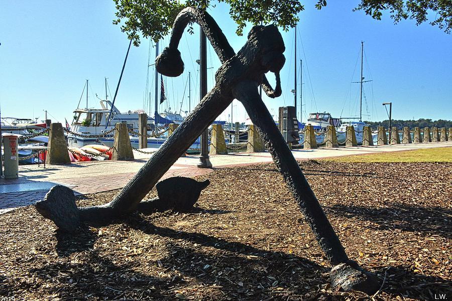Beaufort South Carolina Waterfront Anchor by Lisa Wooten