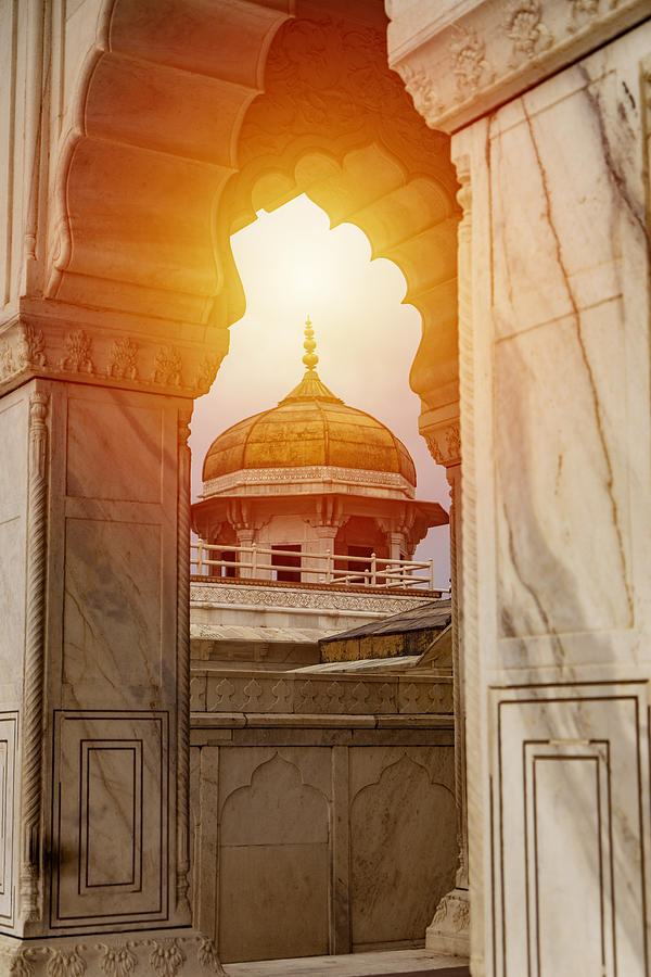 Beautiful Architecture  Agra Fort Mughal Empire At Agra Fort Near Agra India Photograph by Skaman306