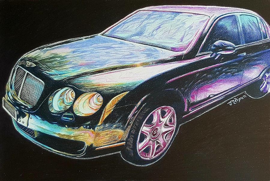 Car Drawing - Beautiful Bentley by Michelle Ripari