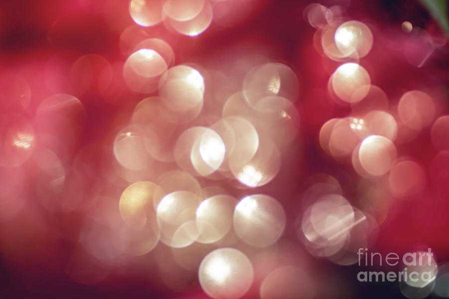 Beautiful bokeh focus lens effect red and gold light background by Gregory DUBUS