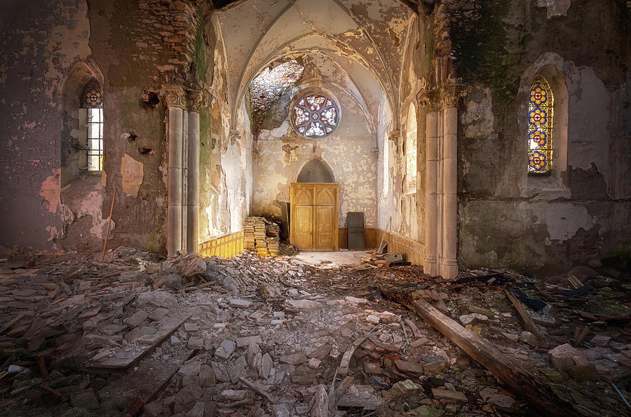 Beautiful Church in Decay by Roman Robroek