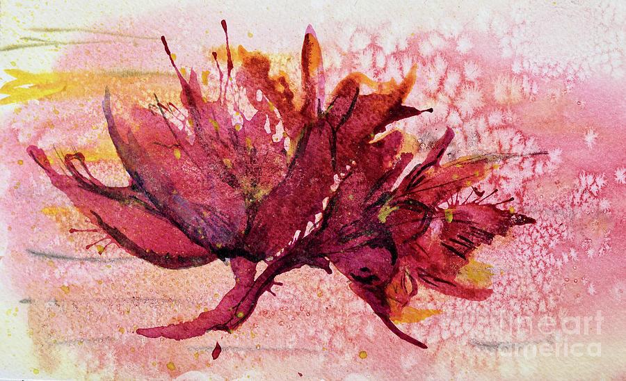 Beautiful Dried Bloom Painting