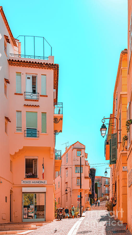 Beautiful Exotic Architecture, Cannes City Street, Historic Houses Downtown Cannes, French Riviera Photograph