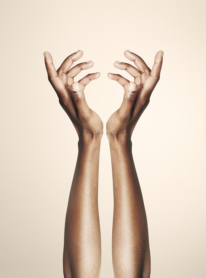 Beautiful Hands Forming An Elegant Floral Shape Photograph by Paper Boat Creative