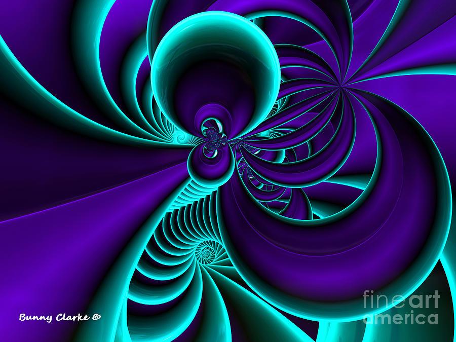 Fractal Digital Art - Beautiful Mystery Plot by Bunny Clarke