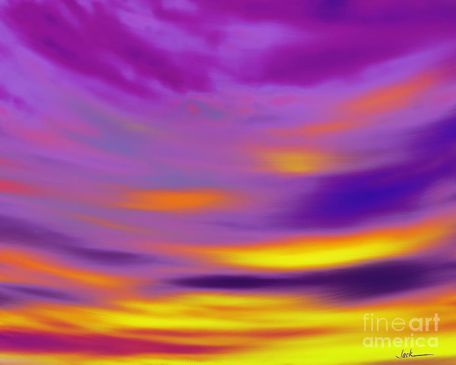 Sunset Painting - Beautiful Night Indeed by Jack Bunds