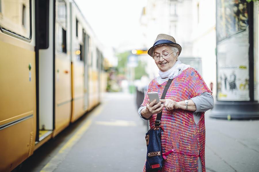 Beautiful senior woman is enjoying herself Photograph by Eva-Katalin