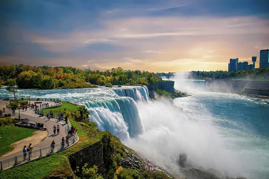 Beautiful Skies at Niagara Falls by Lynn Bauer
