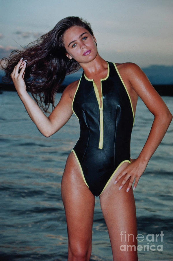 Beautiful Swimsuit Model Posing In One Piece Photograph