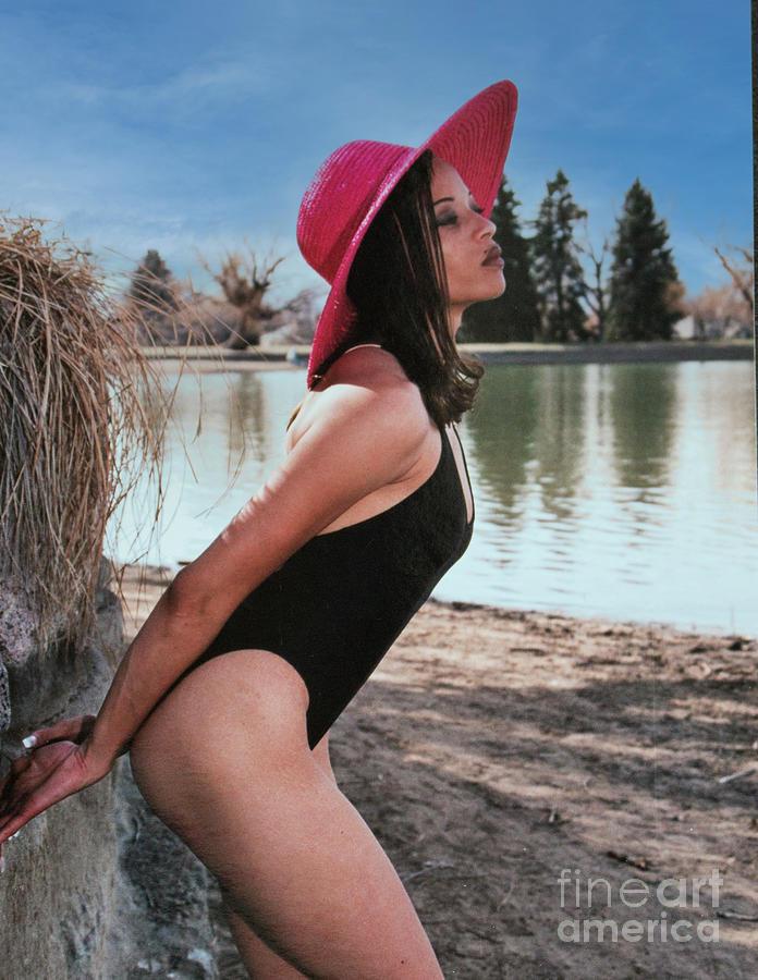 Beautiful Swimsuit Model Posing Photograph