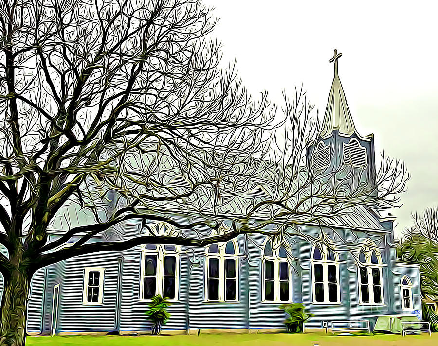 Beautiful Trinity Lutheran Church Stonewall Texas by Tracy Ruckman