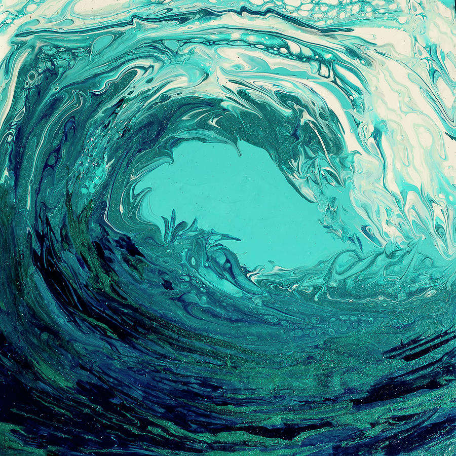 Blue Painting - Beautiful Wave II by Dara Dodson