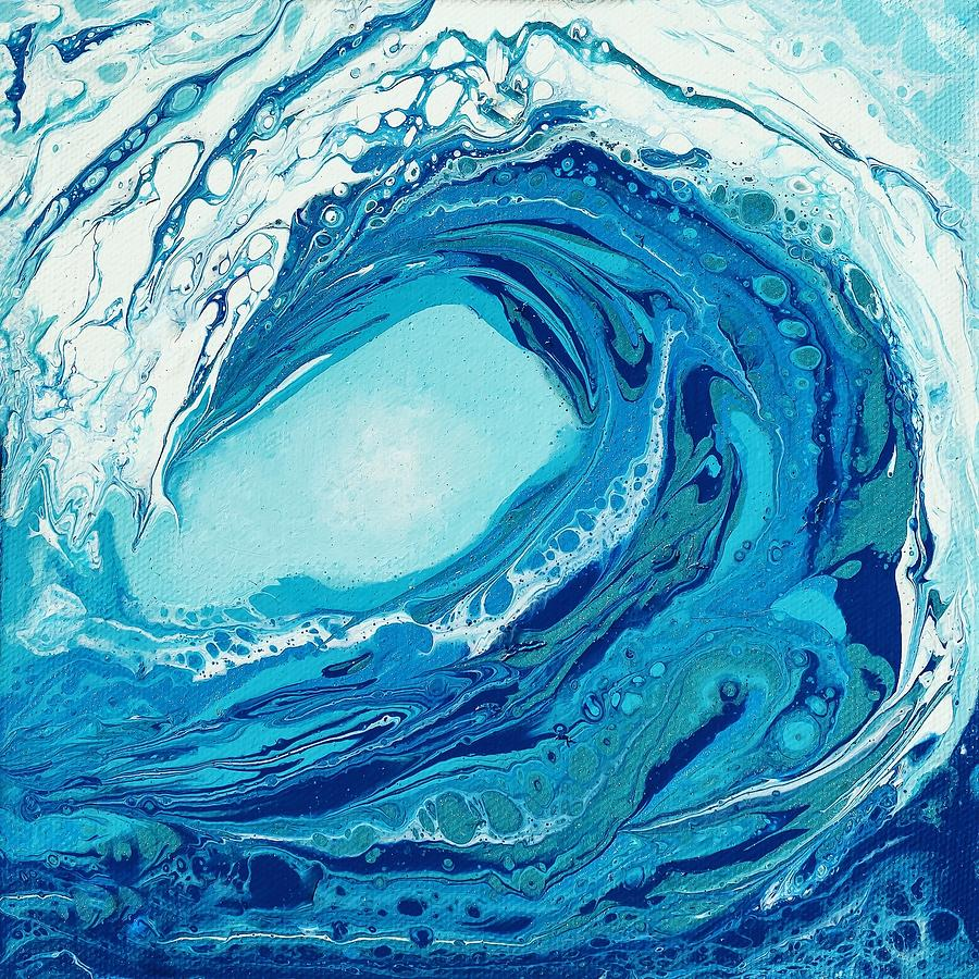 Blue Painting - Beautiful Wave I by Dara Dodson