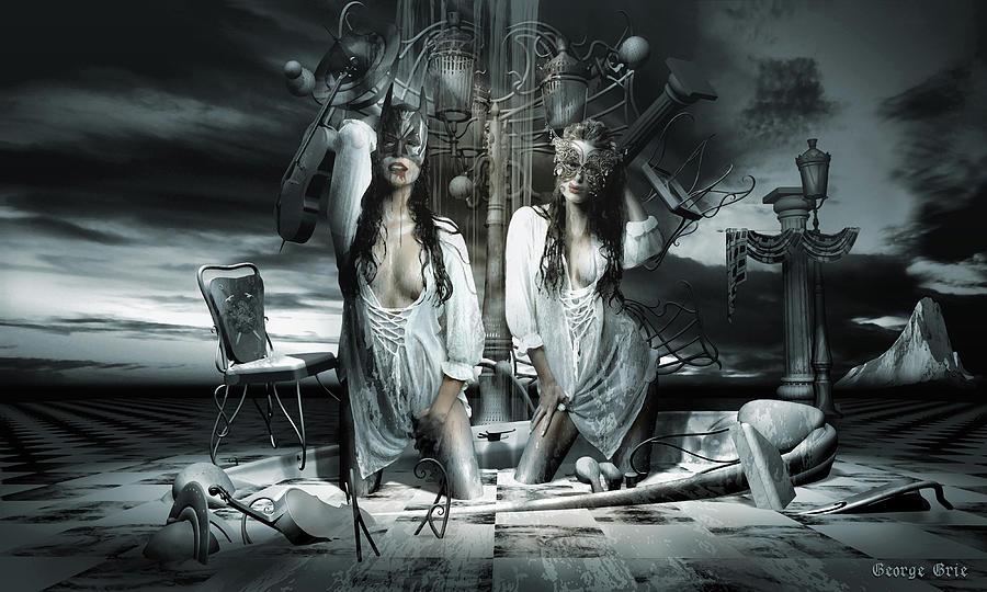 Beauty And The Beast Dissociative Identity Disorder Digital Art