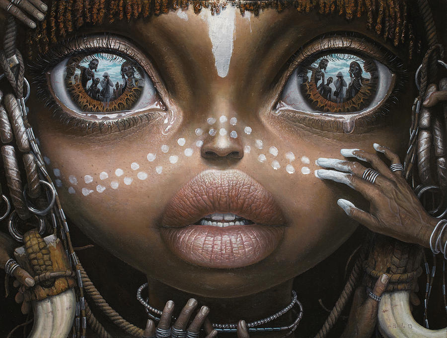 Beauty will save the world - oil painting by Adrian Borda