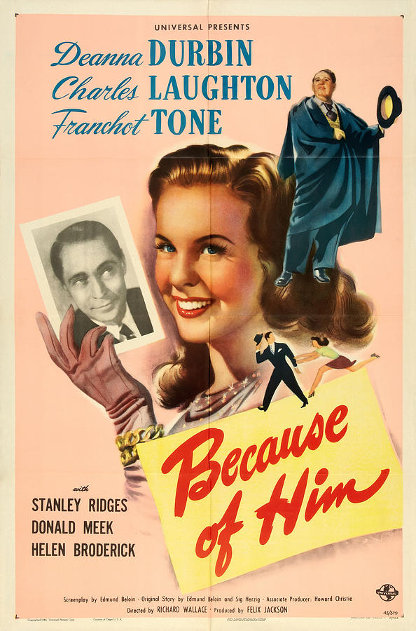 because Of Him, With Deanna Durbin, 1946 Mixed Media