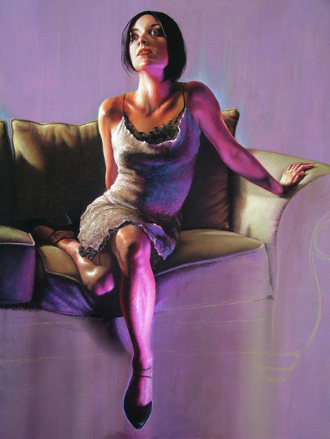Portrait Painting - Beckon by Melanie Stimmell Van Latum