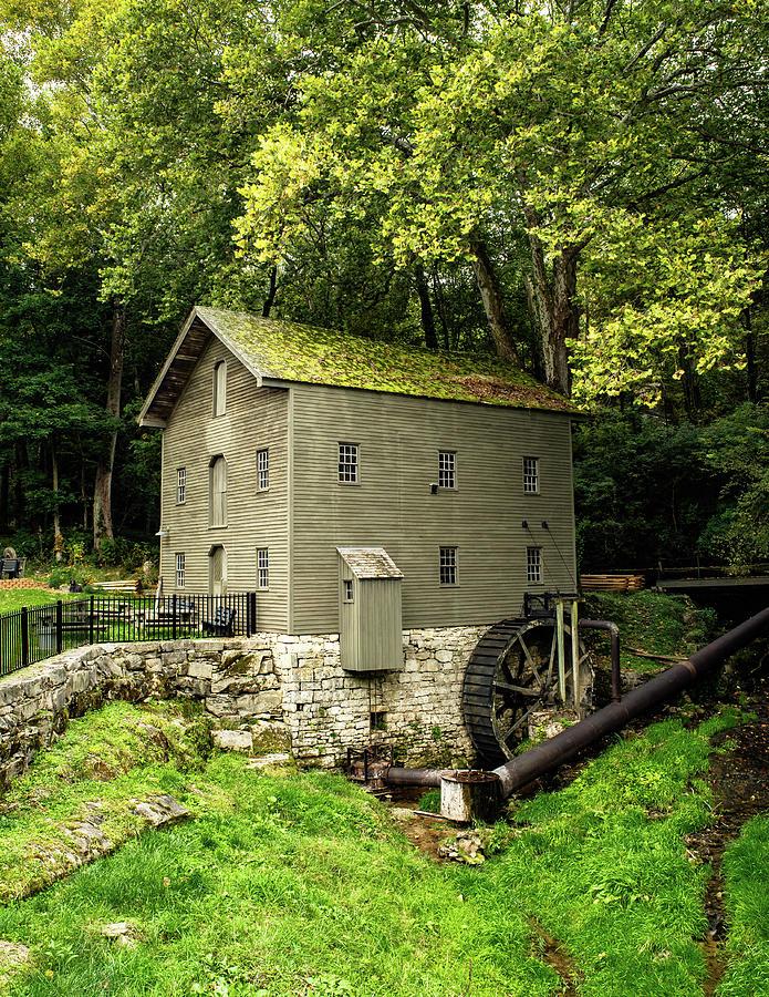 Grist Mill Photograph - Becks Mill - Salem, Indiana by Scott Smith