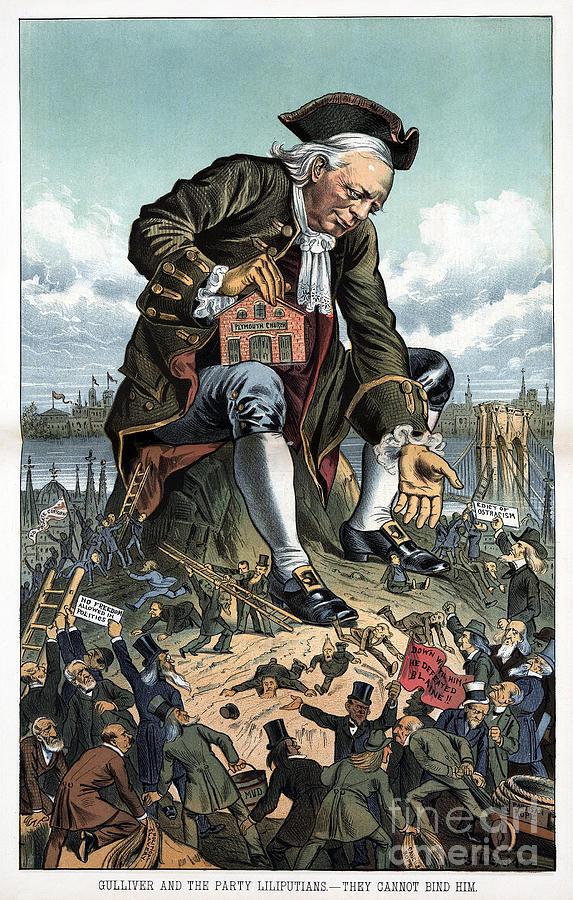 Beecher Cartoon, 1885 by Bernhard Gillam