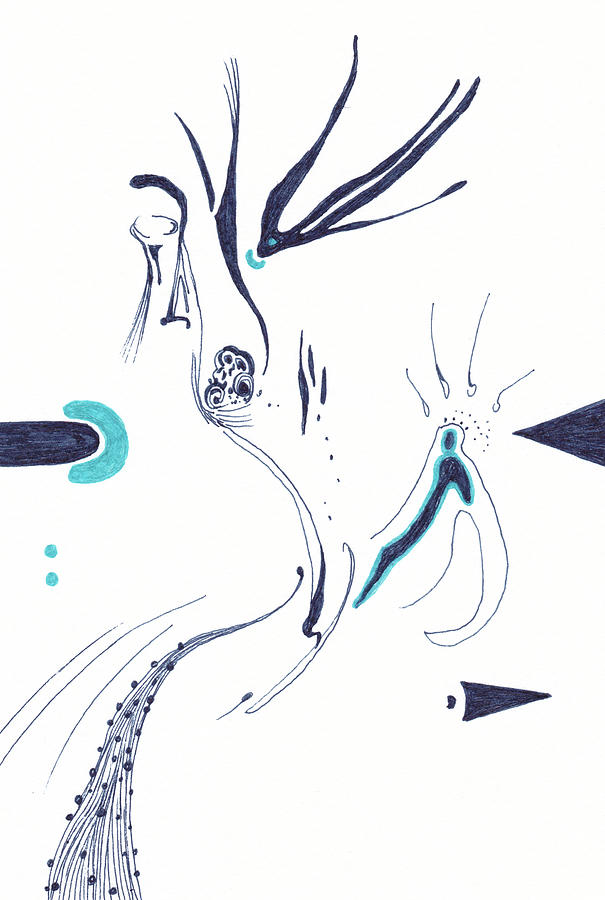 Sleep Drawing - Before I Fall Asleep - #ss20dw002 by Satomi Sugimoto