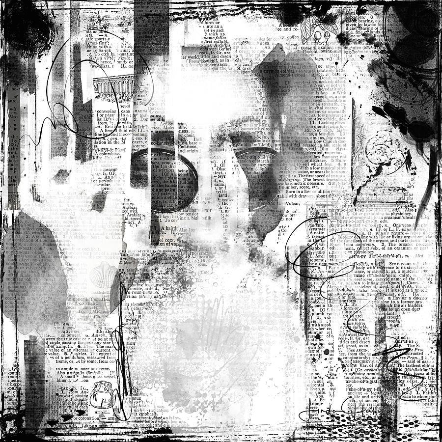 Abstract Digital Art - Behind the Shades by Linda Lee Hall