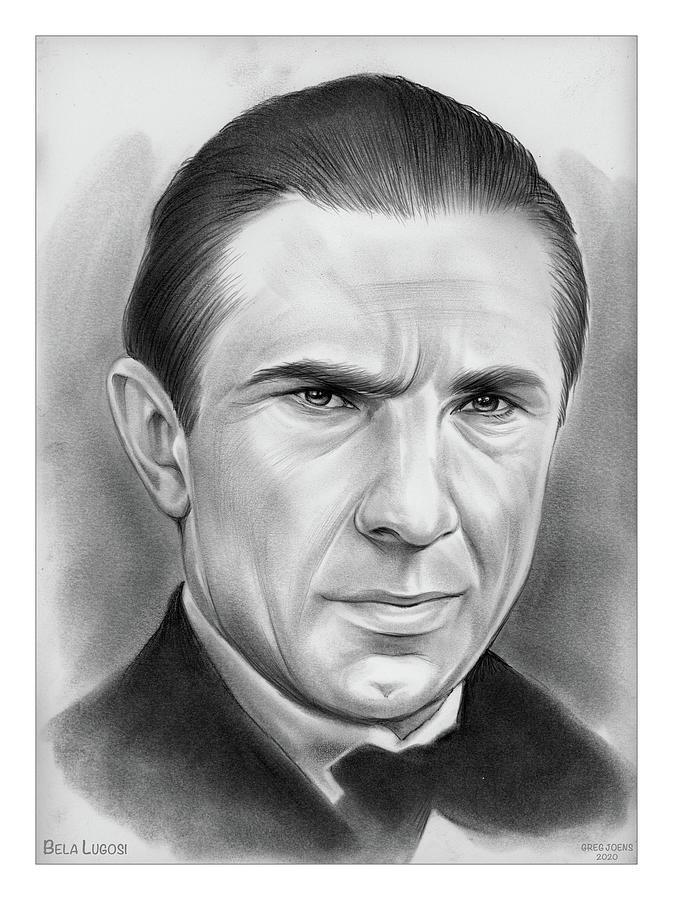 Bela Lugosi Drawing - Bela Lugosi - Pencil by Greg Joens