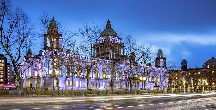 Belfast Photograph - Belfast City Hall  by Barry O Carroll
