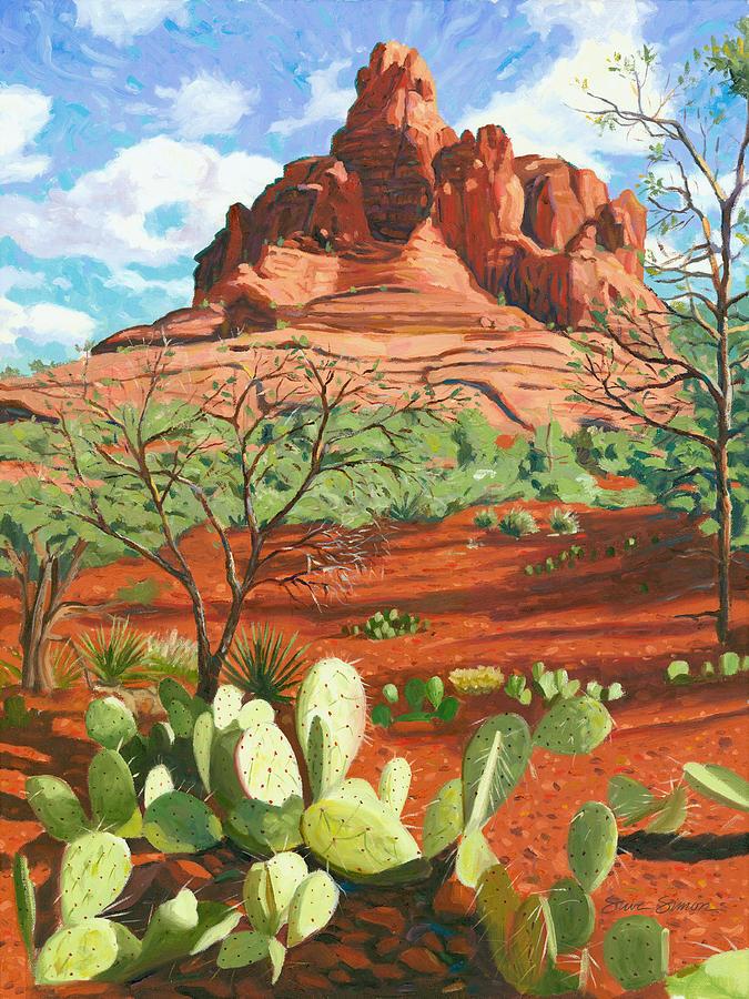 Bell Rock Painting - Bell Rock - Sedona by Steve Simon