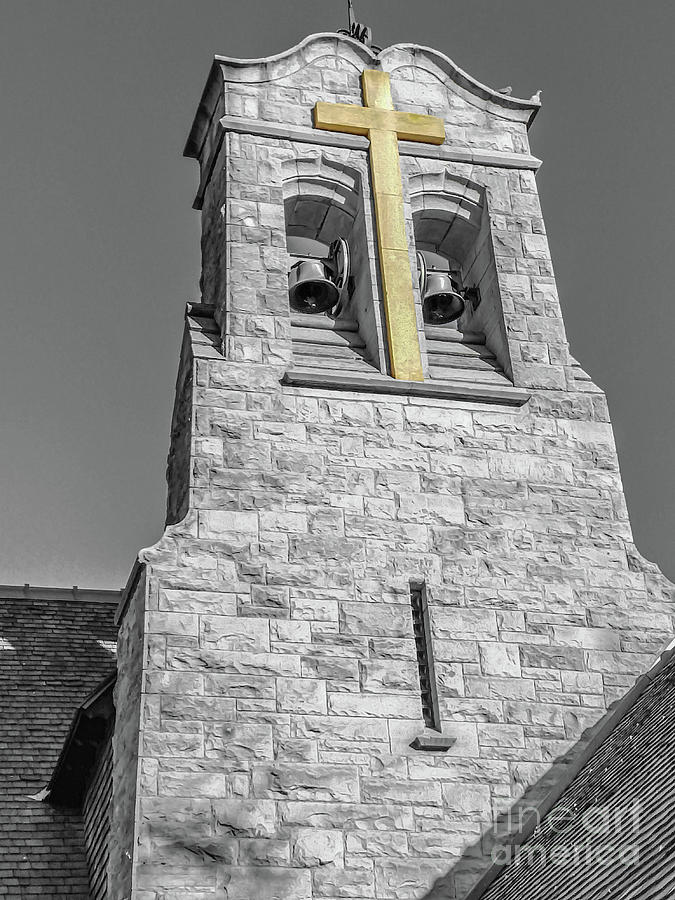Bell Tower-Selective Color by Tony Baca