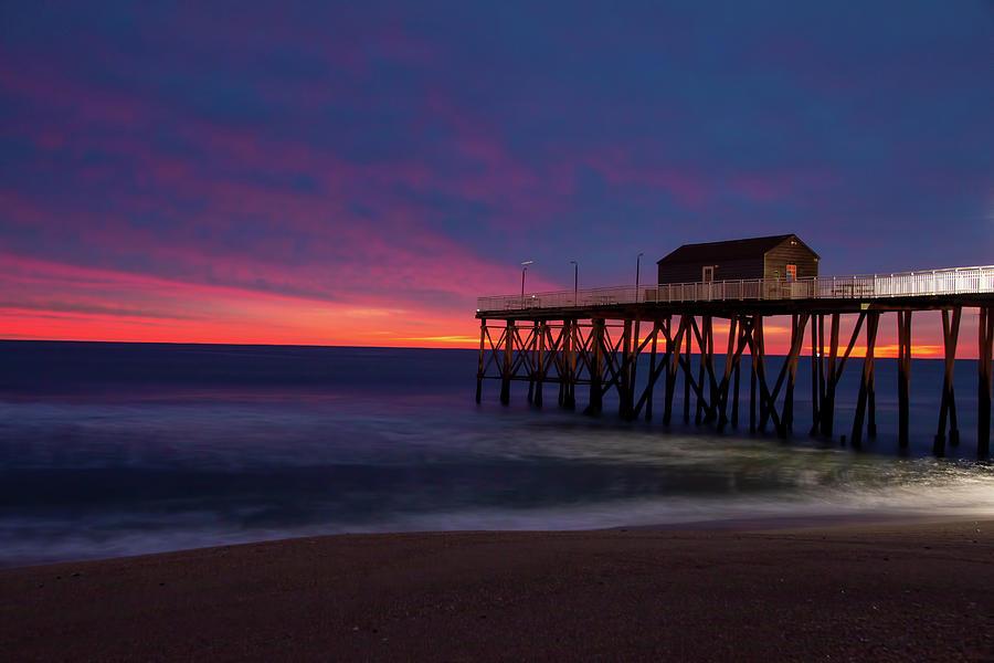 Belmar Fishing Club Sunrise by Kristia Adams