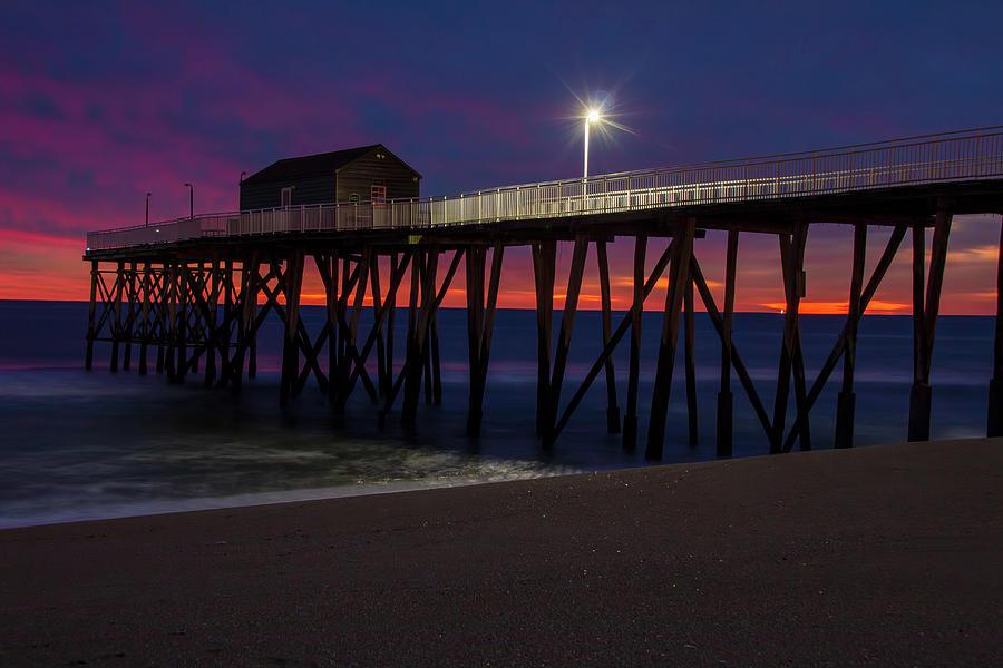 Belmar Fishing Pier Before Dawn by Kristia Adams