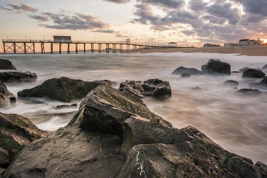 Belmar Photograph - Belmar Pier by Kristopher Schoenleber
