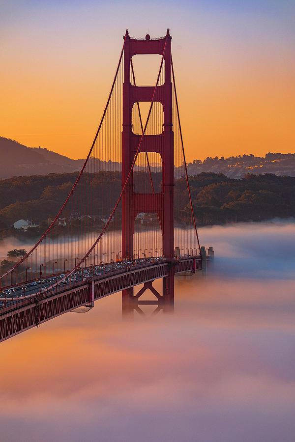 Below Deck, Golden Gate Bridge Photograph by Vincent James