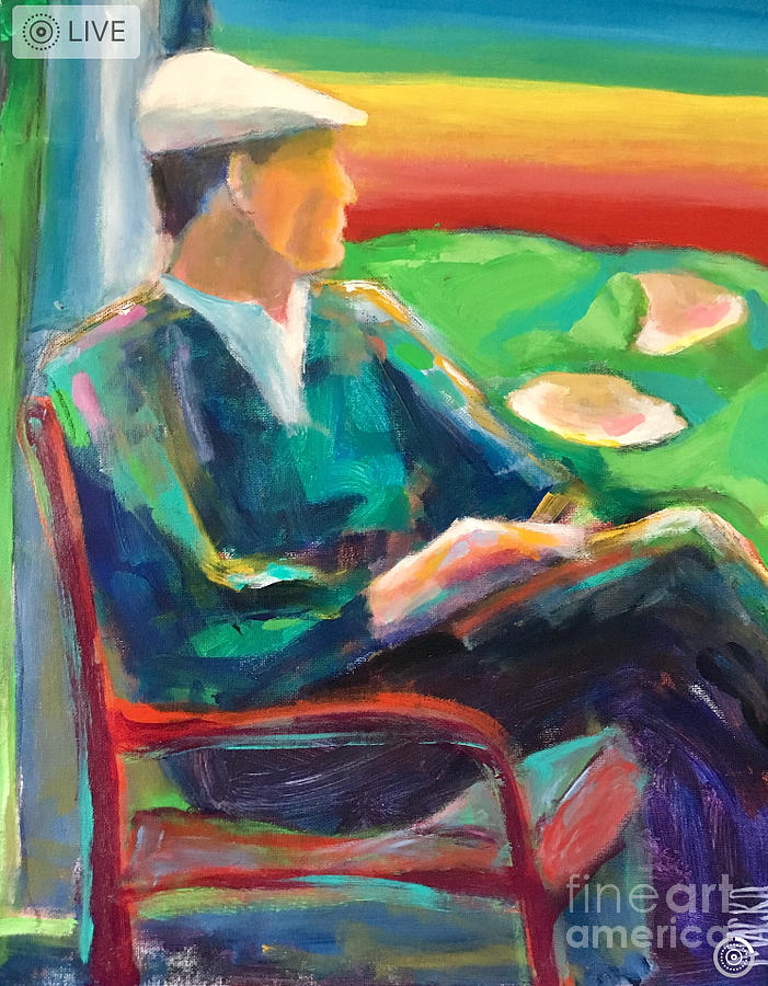 Figurative Abstract Painting - Ben Hogan by Mark Macko