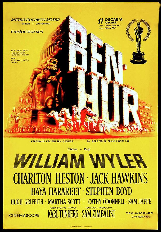 ben Hur Movie Poster 1959 Mixed Media