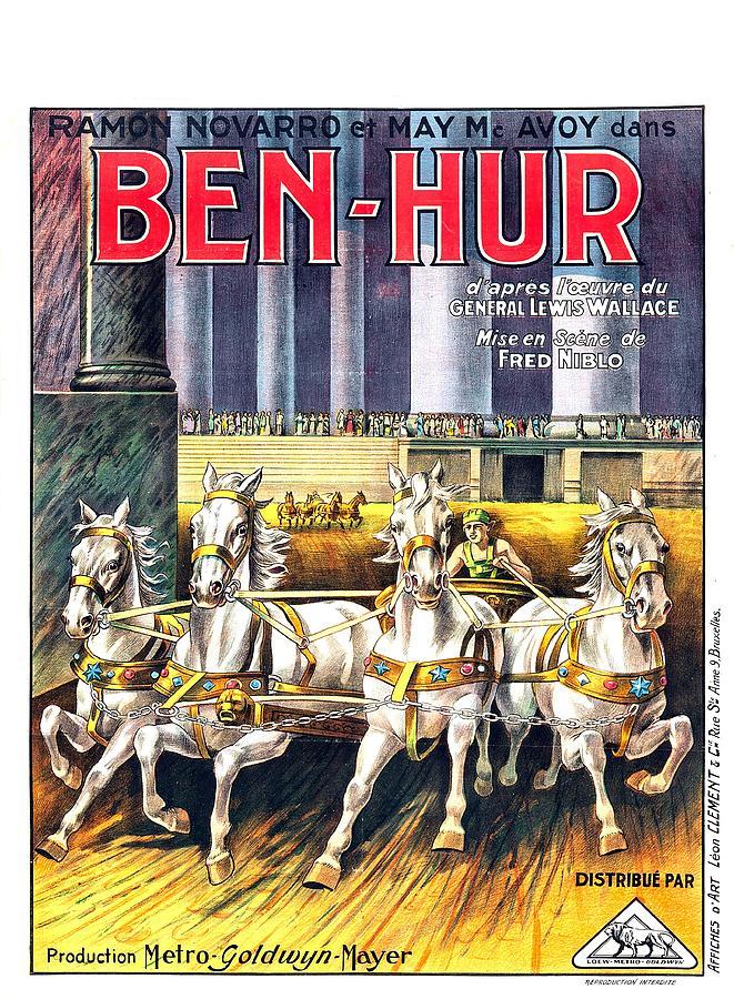 ben-hur, With Ramon Novarro, 1925 Mixed Media