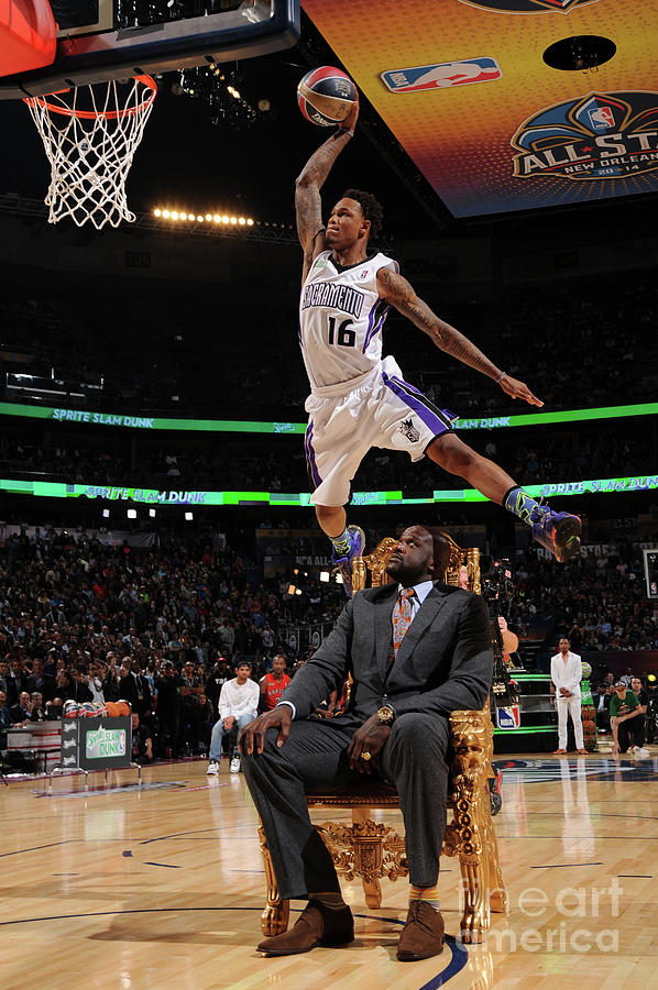 Ben Mclemore and Shaquille Oneal Photograph by Andrew D. Bernstein