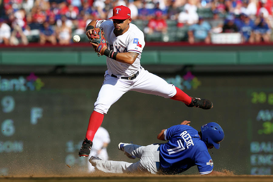 Ben Revere And Rougned Odor Photograph by Ronald Martinez