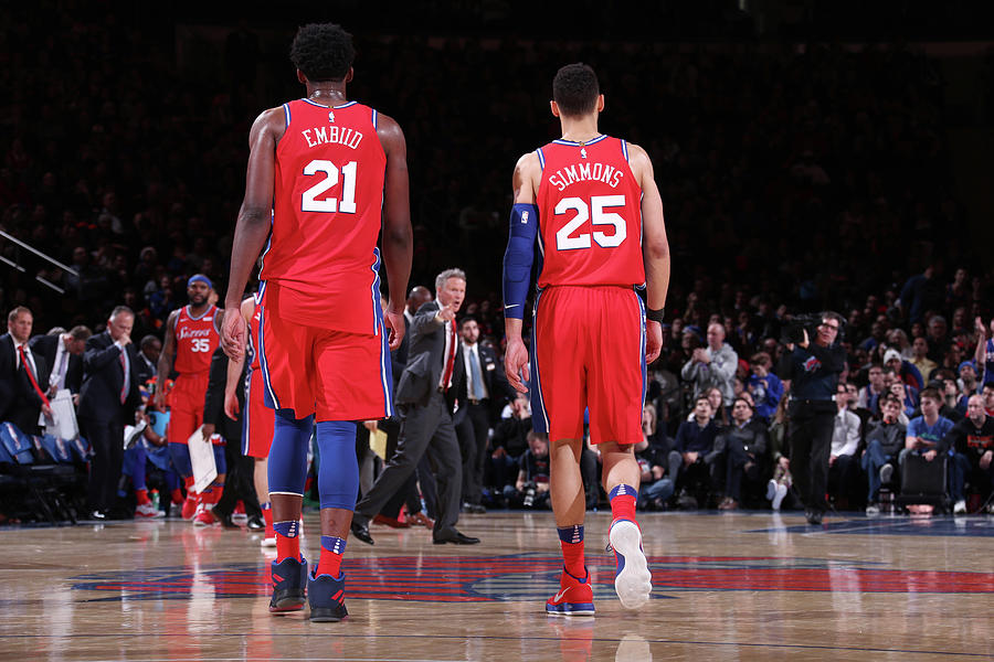 Ben Simmons And Joel Embiid Photograph by Nathaniel S. Butler