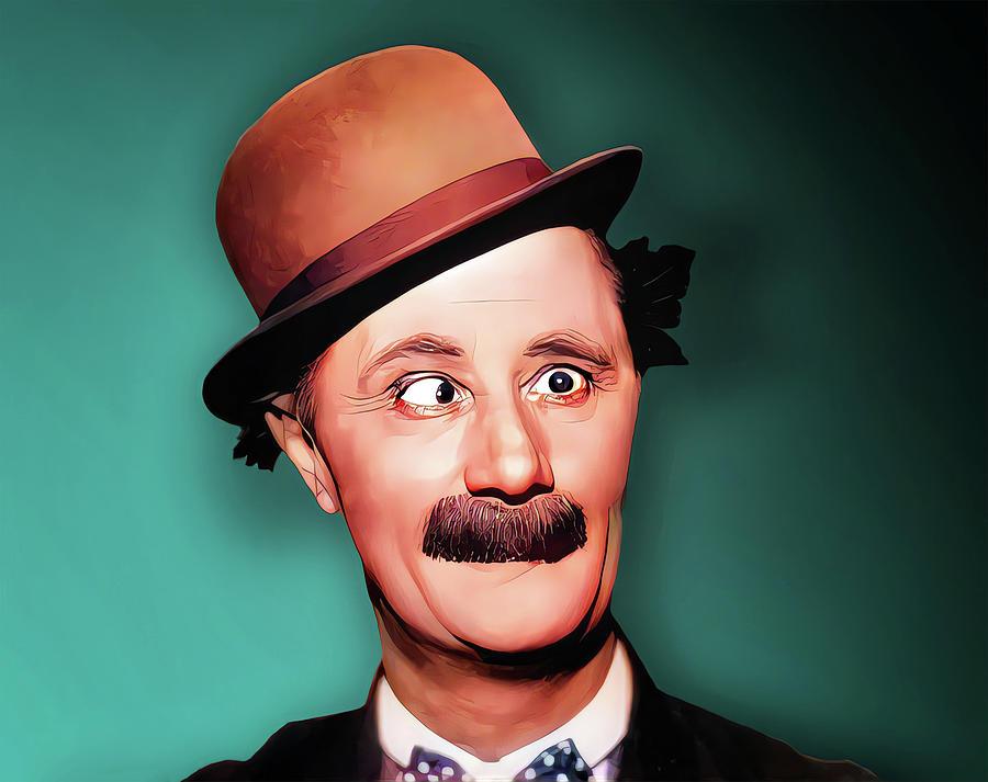 Mack Sennett Painting - Ben Turpin, American comedian by Vincent Monozlay