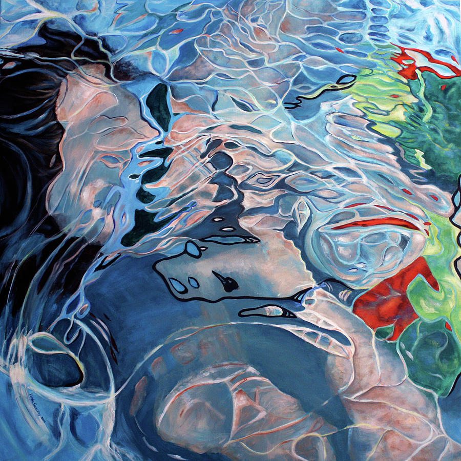 Underwater Painting - Beneath the Surface by Linda Queally
