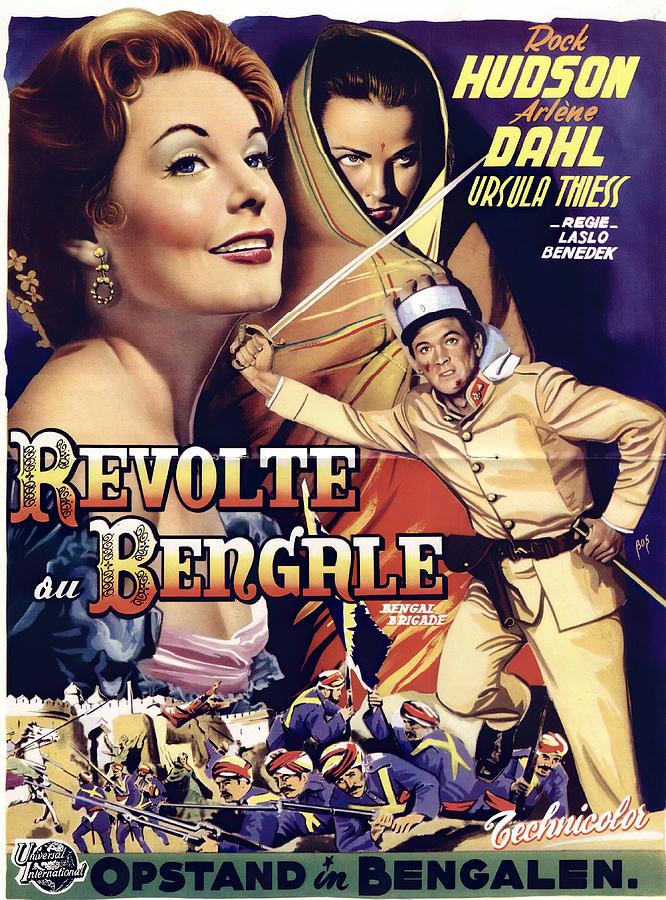 bengal Brigade 2, With Rock Hudson And Arlene Dahl, 1954 Mixed Media