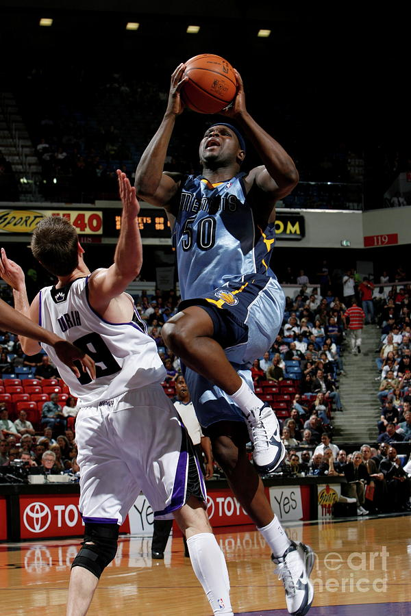 Beno Udrih and Zach Randolph Photograph by Steve Yeater