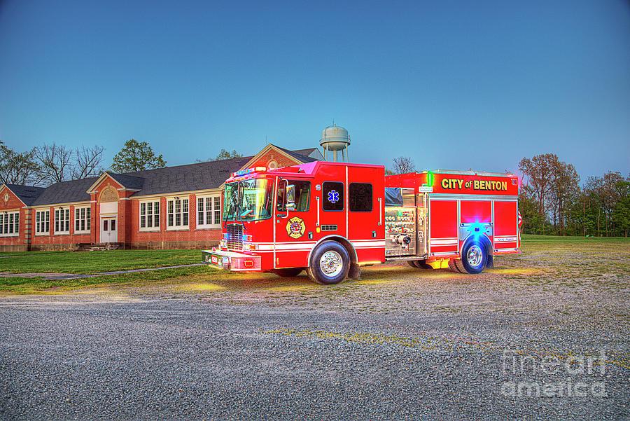 Observing Photograph - Benton Firetruck  by Larry Braun