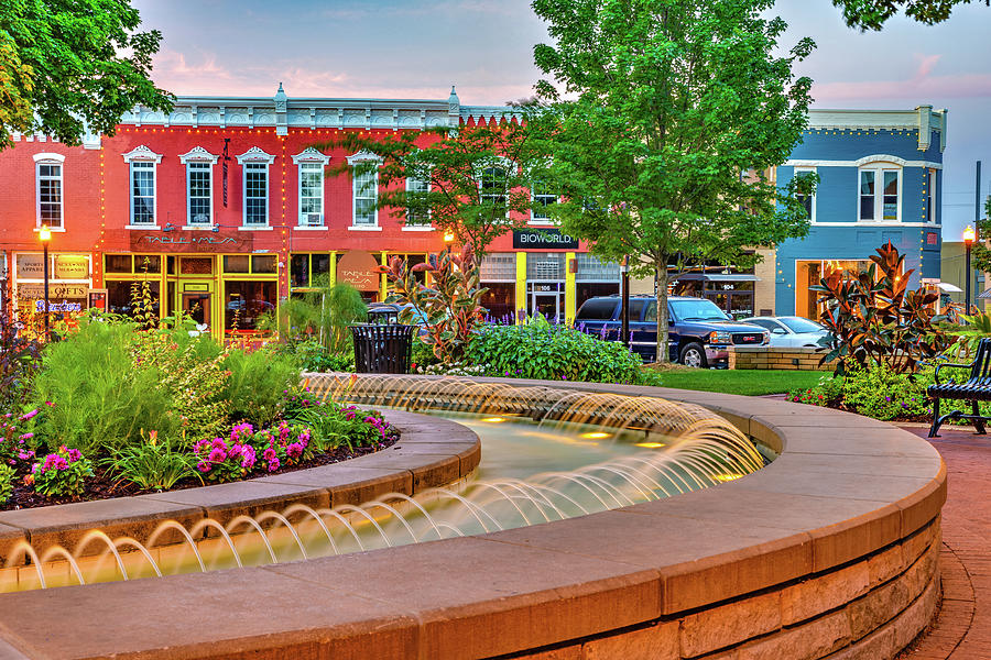 Bentonville Arkansas And Fountain Square Photograph By Gregory Ballos
