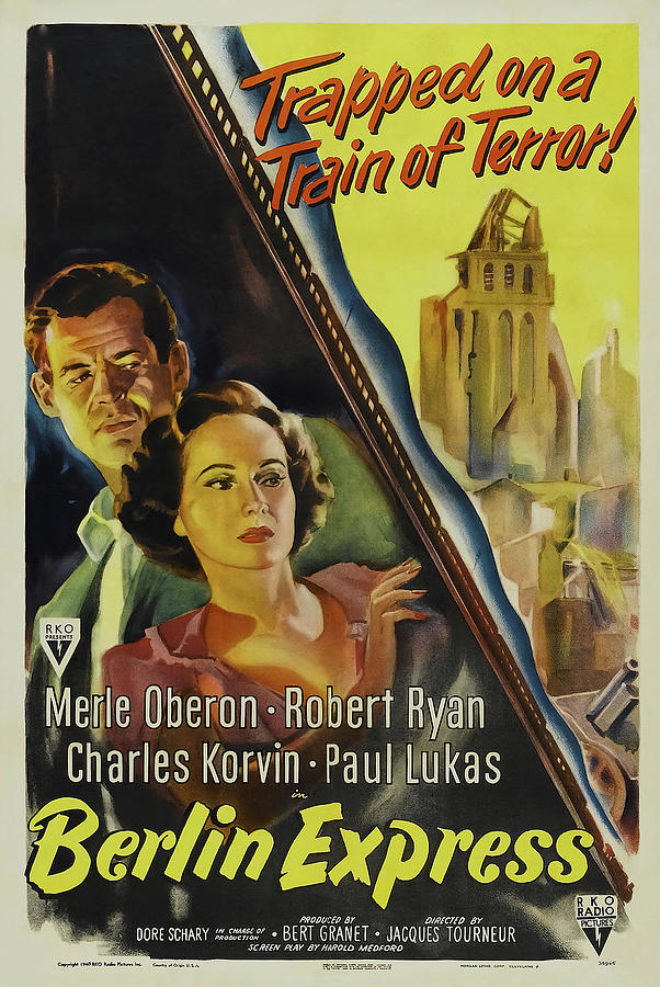 berlin Express, With Merle Oberon And Robert Ryan, 1948 Mixed Media