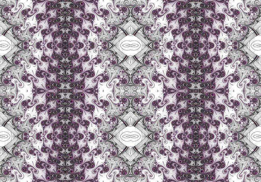 Berry Swirl Fractal Design Photograph